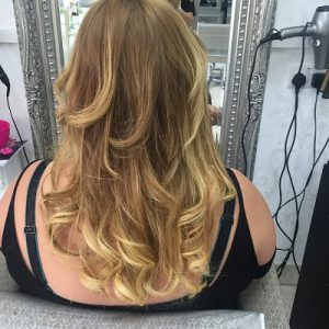 After hair extensions, Coventry hair salon