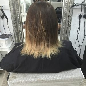Before Great Lengths hair extensions at Coventry hair salon