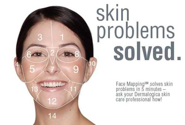 FAce mapping skin treatments