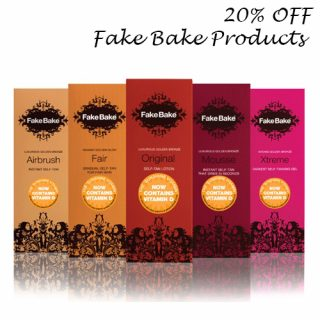 20% OFF Fake Bake Tanning Products
