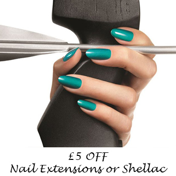 £5 OFF Nail Extensions or Shellac